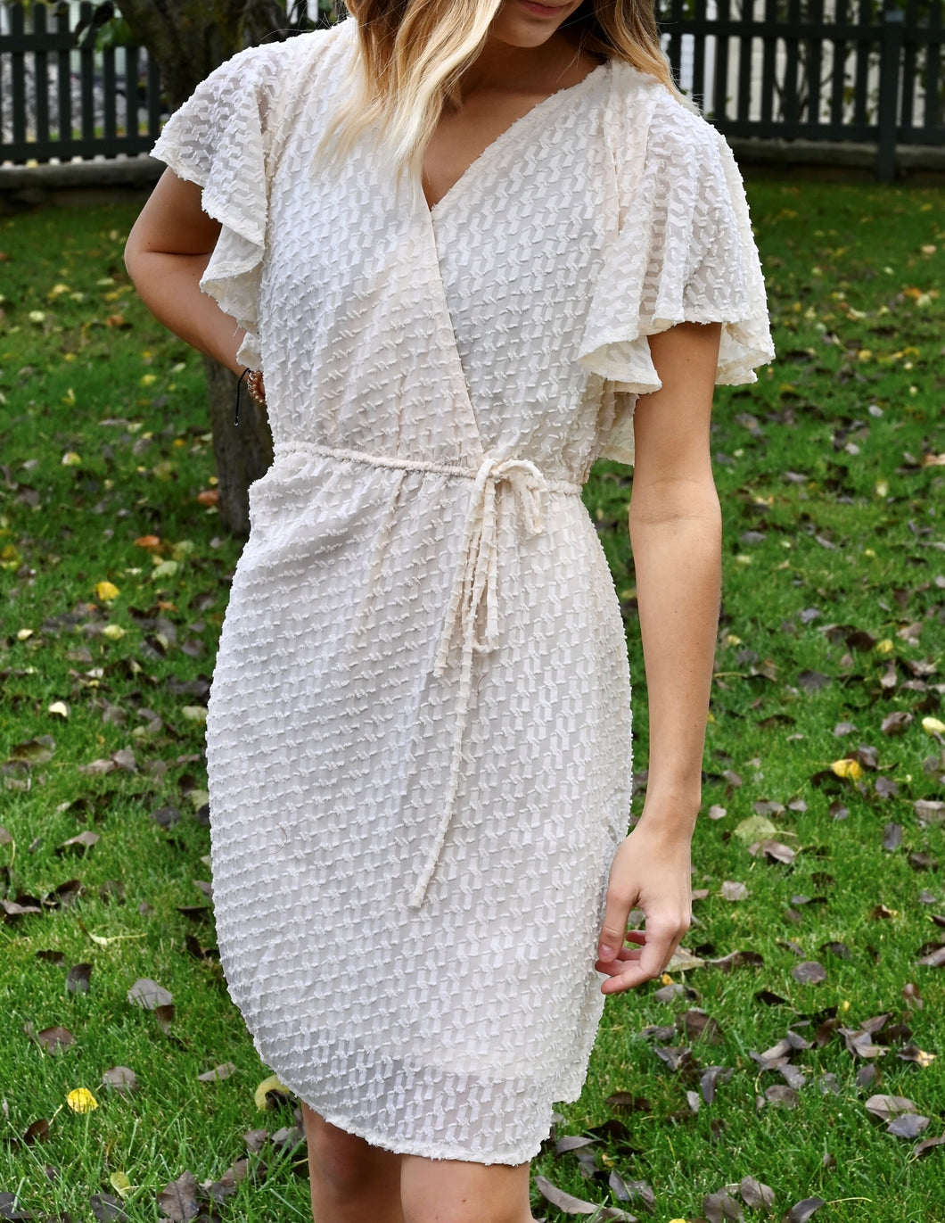 Sheer wrap dress