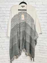 Load image into Gallery viewer, Melange stripe sweater cardigan