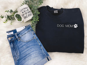 """Dog Mom"" Crew Neck"