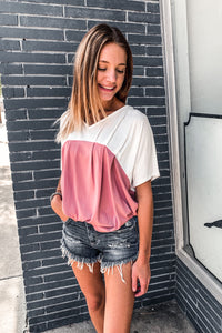 Knit loose fit top