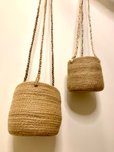 Load image into Gallery viewer, Hanging woven jute planters