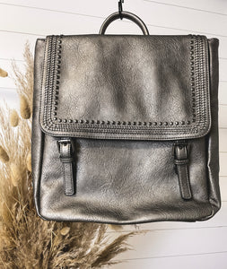 Flapover Backpack Purse