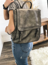 Load image into Gallery viewer, Flapover Backpack Purse