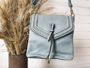 Flapover Braided Crossbody