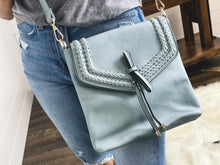 Load image into Gallery viewer, Flapover Braided Crossbody