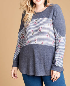 Hacci knit top - Curvy Girl