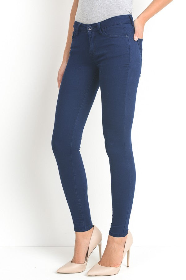 Stretch cotton skinnies