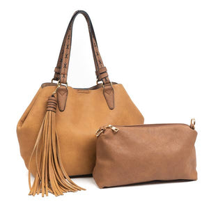 Large tassel 2 in 1 satchel