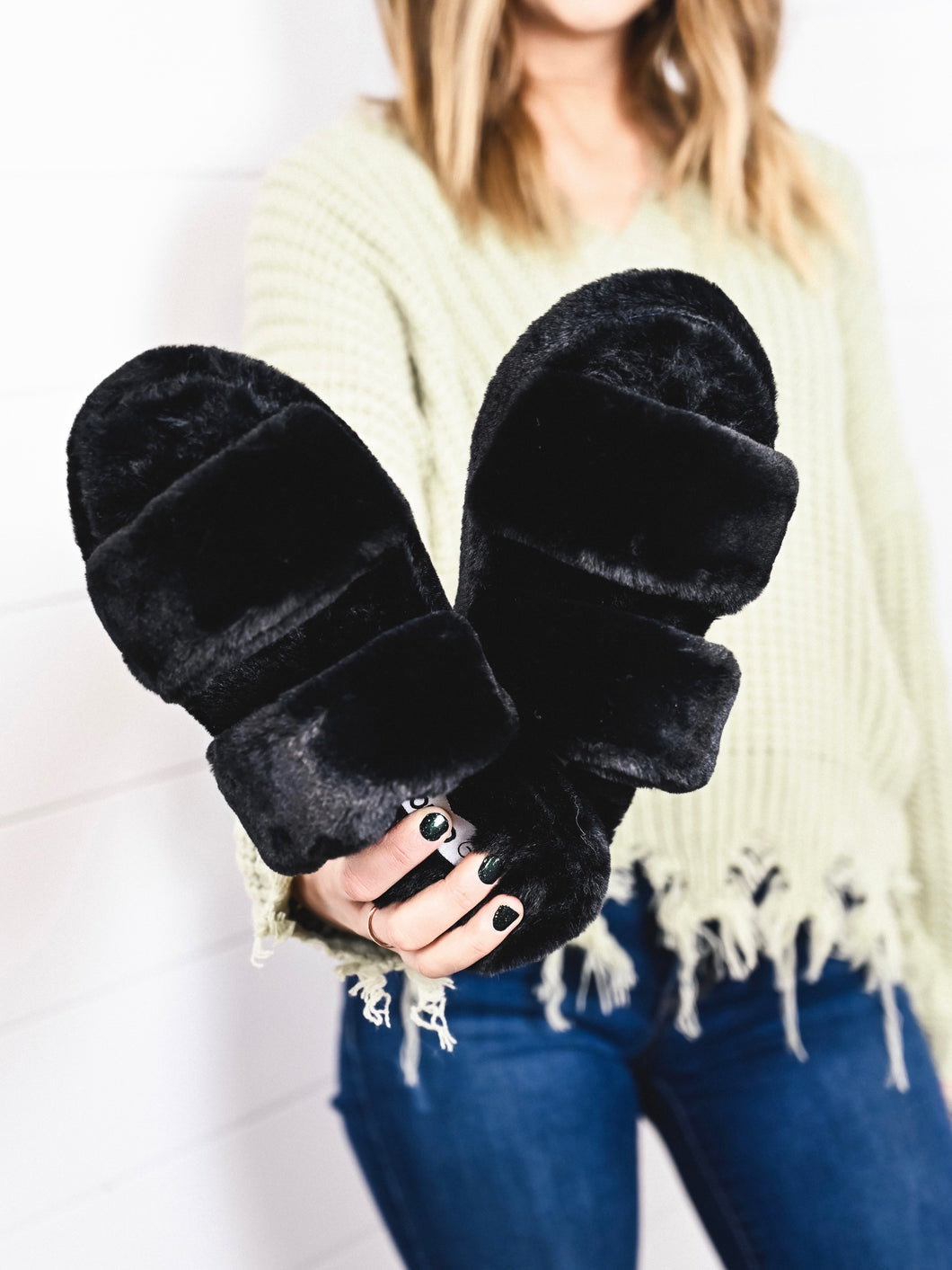 Furry slipper