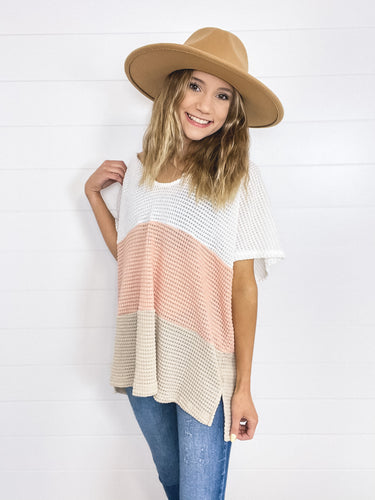 Multi Stripe Oversized V-neck