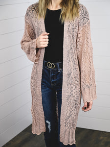 Lace bell sleeve cardigan