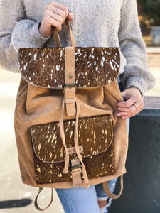 Bessie suede backpack purse