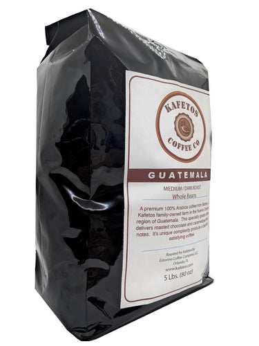 ✅Guatemala Medium Dark Whole Beans Specialty Grade (5 lbs.).