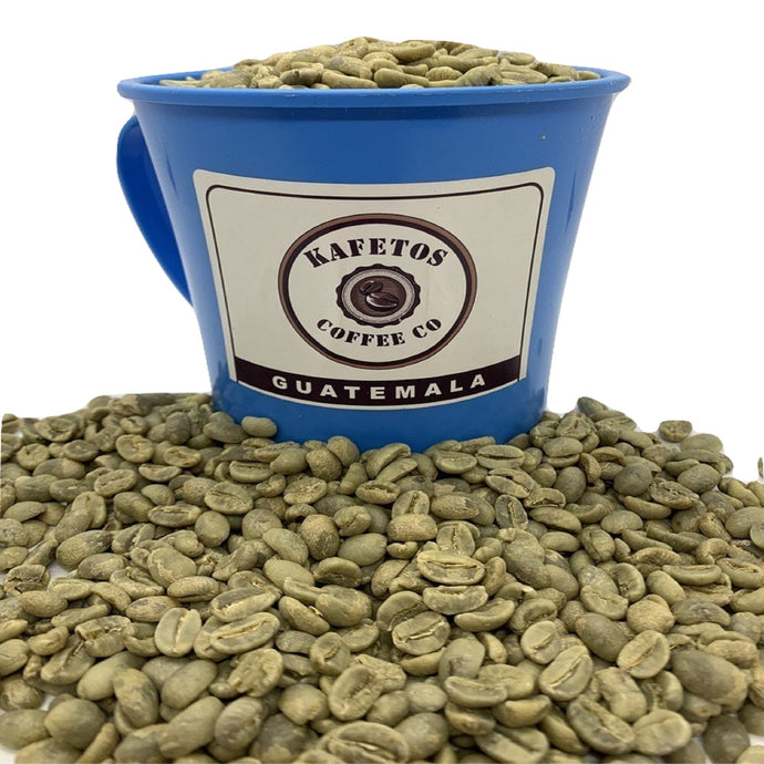 (5 lbs). Specialty Grade Green Coffee Beans Raw Unroasted | Kafetos Farm Guatemala | free shipping.