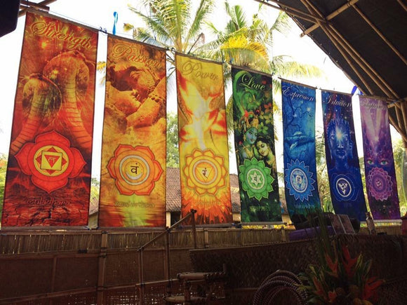 Chakra Large Banners (set of 8)