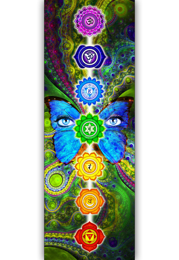 Chakra Butterfly Single Large Banner