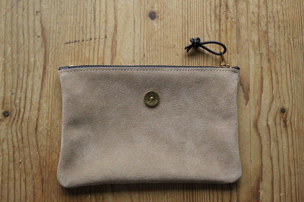 Mini Pouch Beige Suede