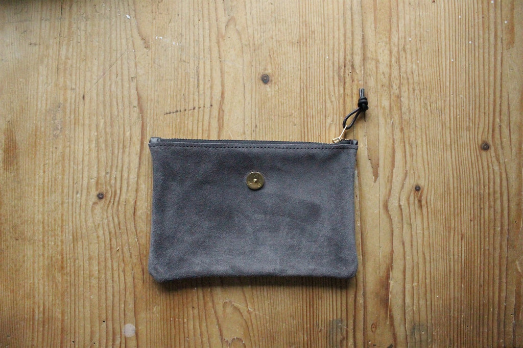 Mini Pouch Grey Suede