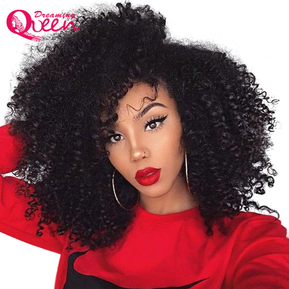 4b 4c Mongolian Afro Kinky Curly Clip In Human Hair Extensions 8 Pcs