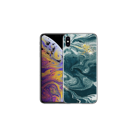 APPLE IPHONE X/XS Marble Wave Blue