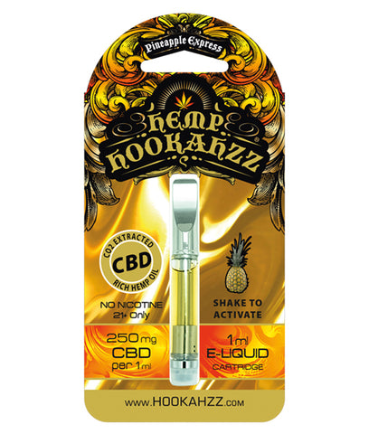 250mg Hemp CBD E-Liquid Prefilled Cartridge - Pineapple Express - Assuage Hemp CBD Products