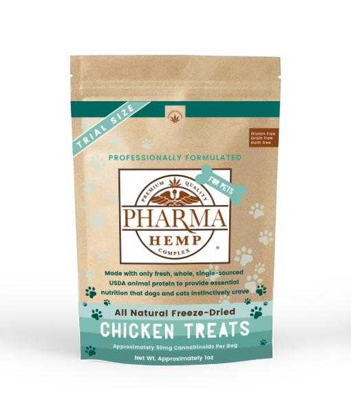 CBD for Pets Freeze-Dried Chicken Treats 1oz. - Assuage Hemp CBD Products
