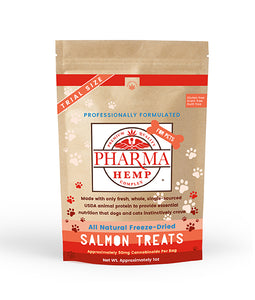 CBD for Pets Freeze-Dried Salmon Treats 1oz. - Assuage Hemp CBD Products