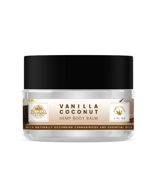Vanilla Coconut CBD Body Balm 150mg - Assuage Hemp CBD Products