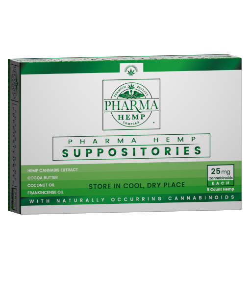 Hemp CBD Suppository 25mg 5ct - Assuage Hemp CBD Products