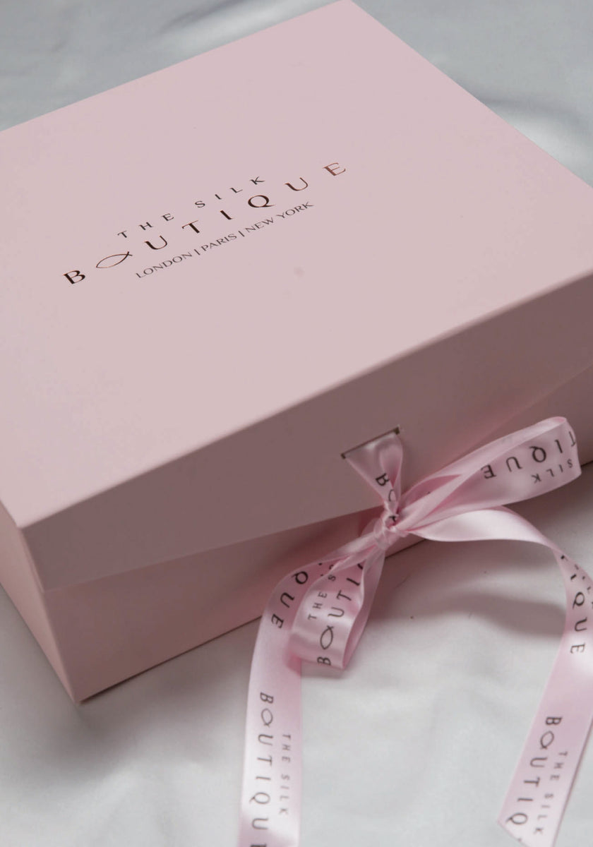 luxury pink packaging by the silk boutique