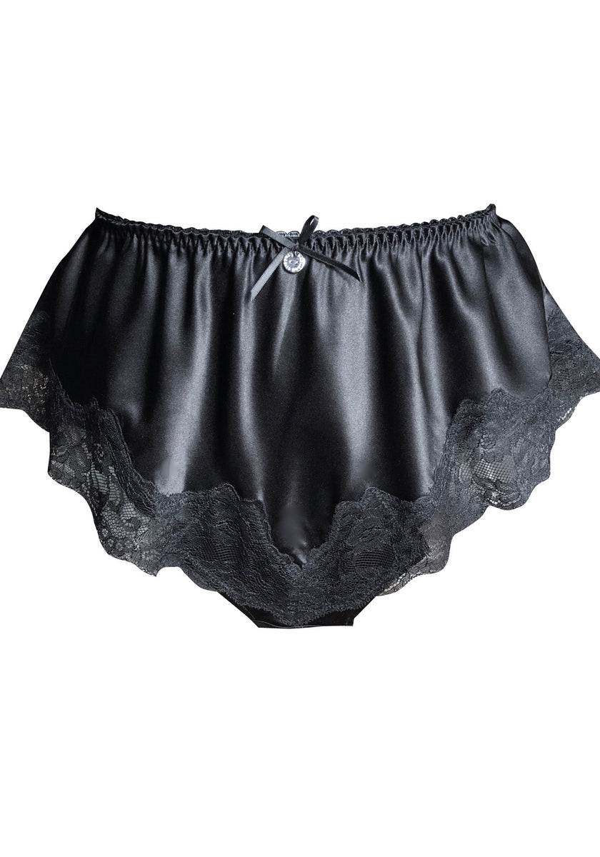 black silk French knickers