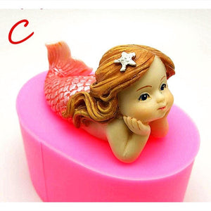 3D Mermaid Cakes Molds