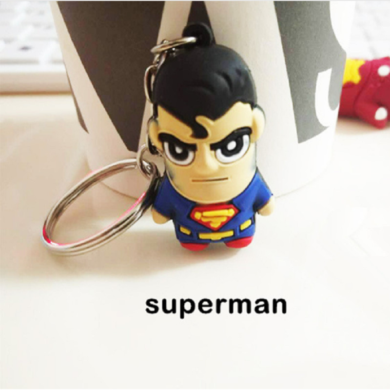 Flashlight Superhero Keychain