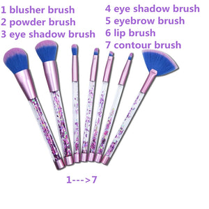 7Pcs/set Glitter Makeup Brushes