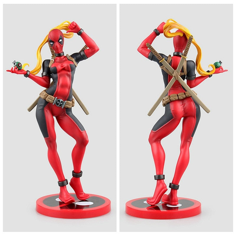 Lady Red Bad-ass Hero Figure with 2 Heads