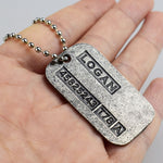 Wolf Man Tag ID Necklace