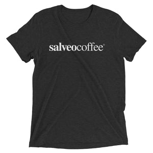Life Happens, But Coffee Helps – Short Sleeve Salveo Coffee T-Shirt In Vintage Black Salveo Coffee - The Best Ground Coffee For Athletes