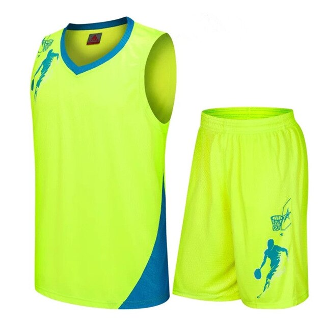 Breathable Youth Training Basketball Jerseys Shorts
