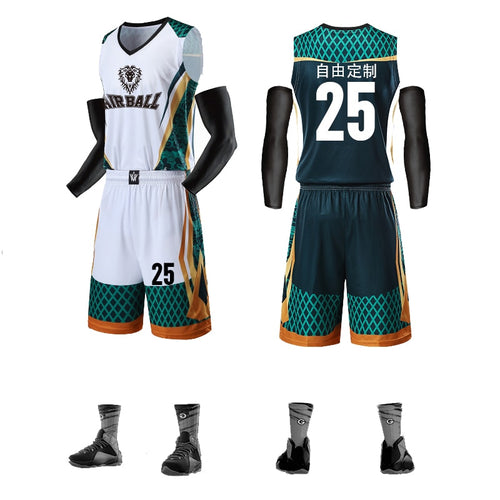 Basketball Training Jersey Set With Pockets