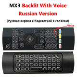 MX3 MX3-L Backlit Air Mouse T3 Smart Voice Remote Control 2.4G RF Wireless Keyboard For X96 mini KM9 A95X H96 MAX Android TV Box