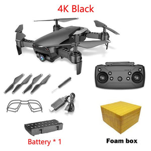 Teeggi M69G FPV RC Drone 4K with 1080P Wide-angle WiFi HD Camera Foldable RC Mini Quadcopter Helicopter VS VISUO XS809HW E58 M69
