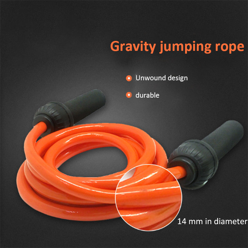 Weight-bearing gravity exercise rope skipping thick weight aerobic exercise rope skipping length adjustable fitness equipment