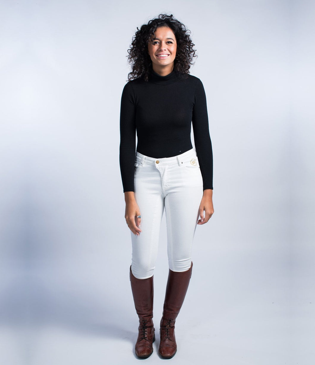 Regalita Equestrian Jeans | Georgian Dollar | White Denim Breeches