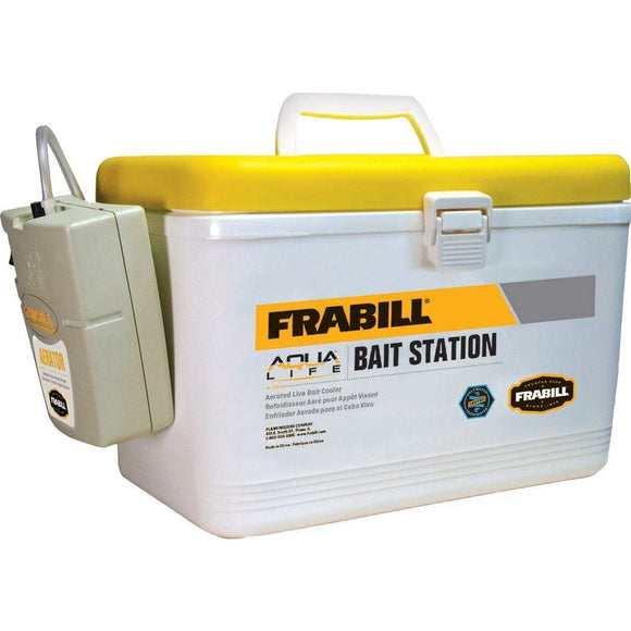 Frabill Bait Box with Aerator 8qt