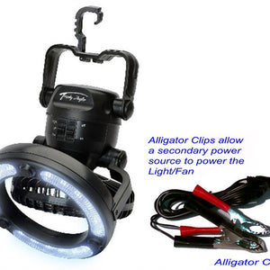 "Trophy Angler 7"" Light/Fan Combo With Clips"