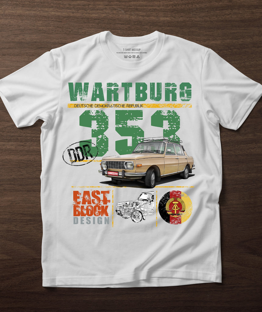Wartburg 353 East Block Design póló