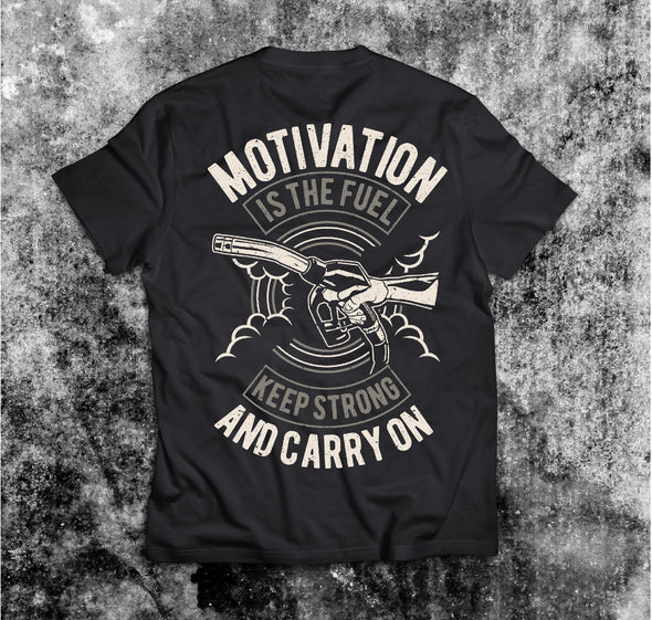 Motivation is The Fuel Vintage póló