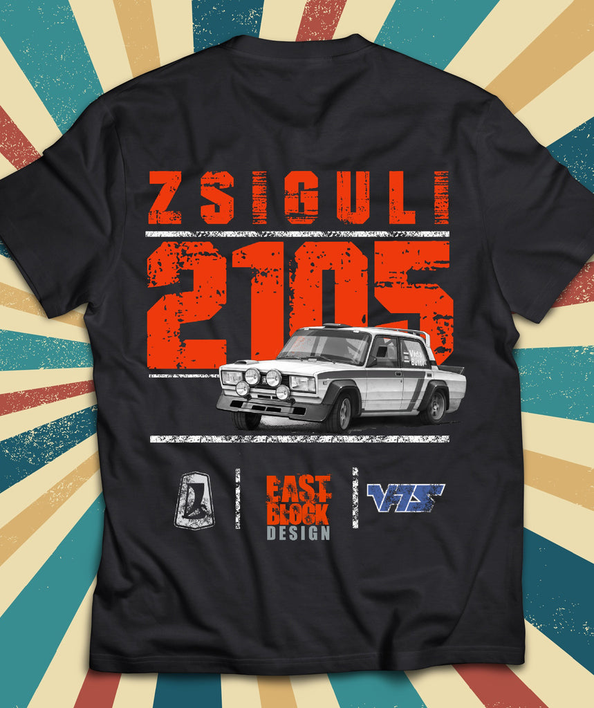 Zsiguli 2105 East Block Design póló