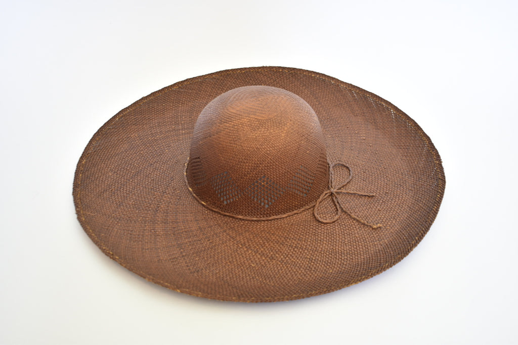 Toquilla Straw Beach Hat - Chocolate