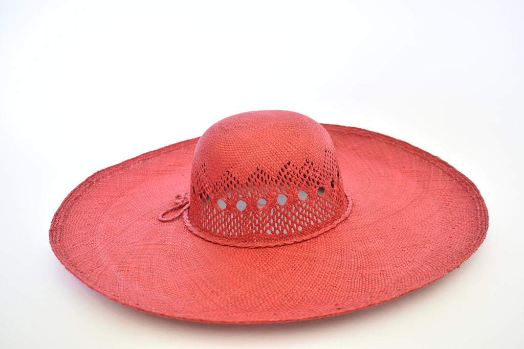 Toquilla Straw Beach Hat - Amor